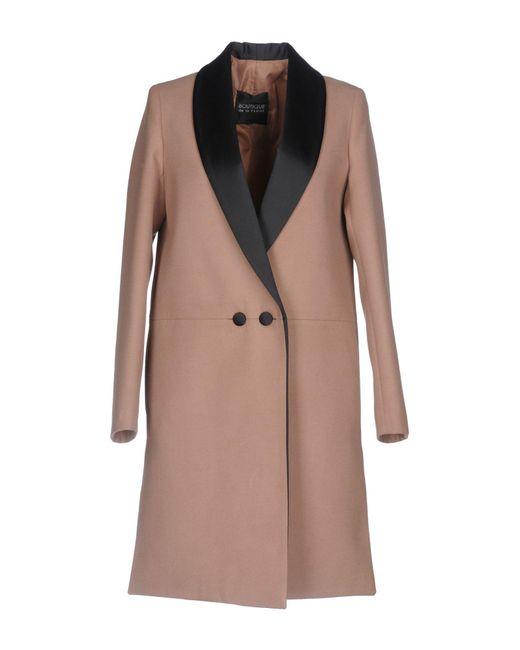 boutique de la femme coat in natural lyst. Black Bedroom Furniture Sets. Home Design Ideas