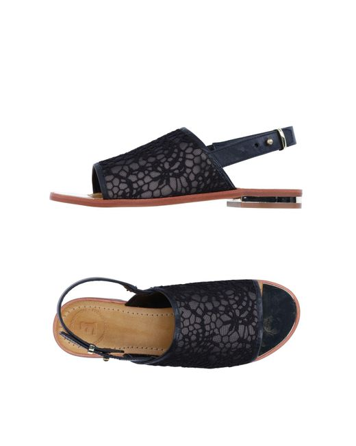 French Connection - Black Sandals - Lyst
