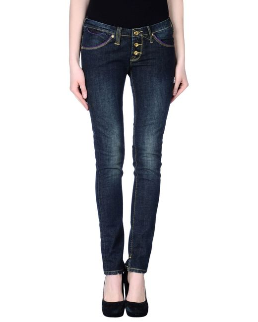 GAUDI | Blue Denim Pants | Lyst