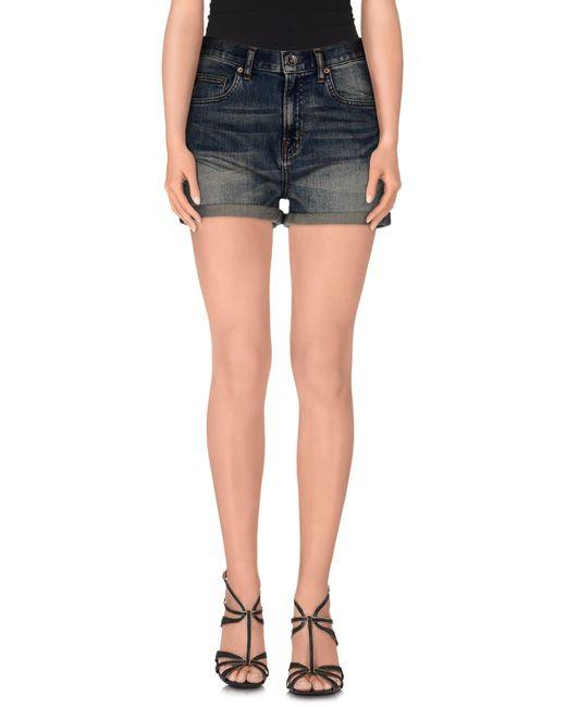 Wesc | Blue Denim Shorts | Lyst