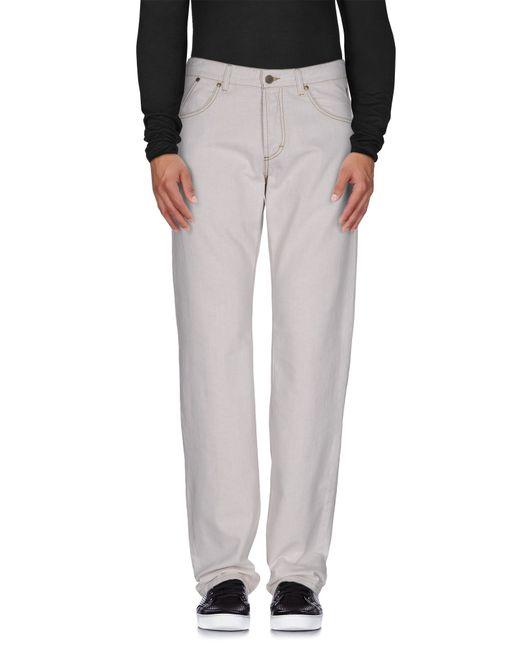 Ferrè Milano | Natural Denim Pants for Men | Lyst