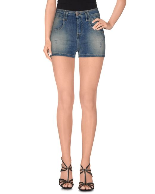 Met | Blue Denim Shorts | Lyst