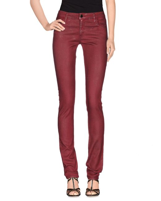 75 Faubourg | Red Denim Trousers | Lyst