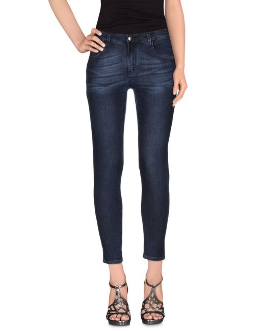 Blue Les Copains | Blue Denim Trousers | Lyst