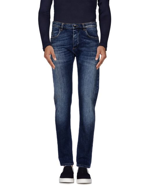 Officina 36   Blue Denim Trousers for Men   Lyst