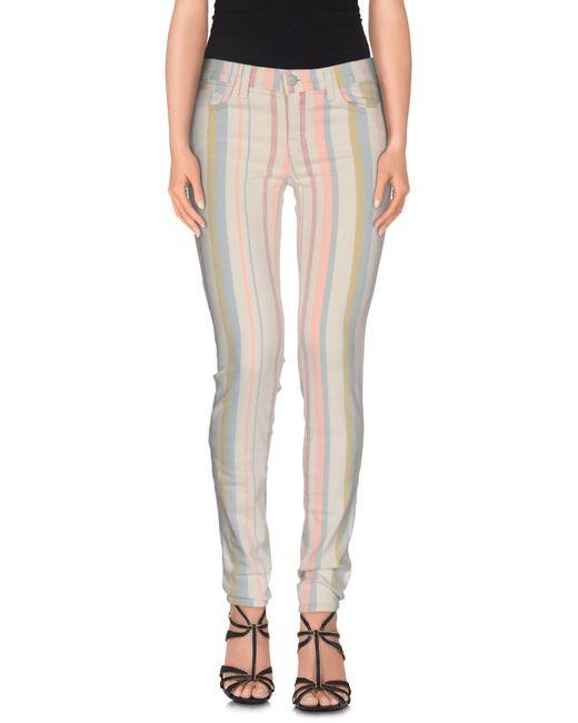 J Brand | White Denim Pants | Lyst