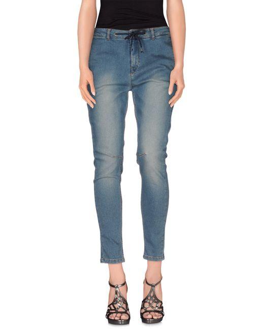 Twin Set | Blue Denim Trousers | Lyst