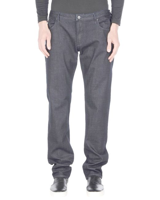 Armani Jeans | Black Denim Trousers for Men | Lyst