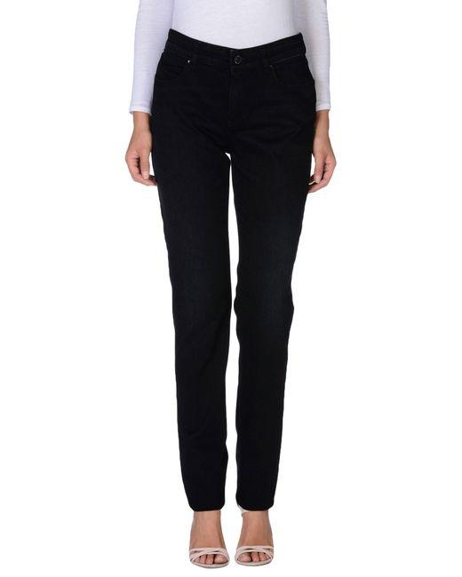 Armani Jeans | Black Denim Trousers | Lyst