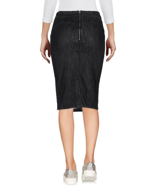 marani denim skirt in black lyst