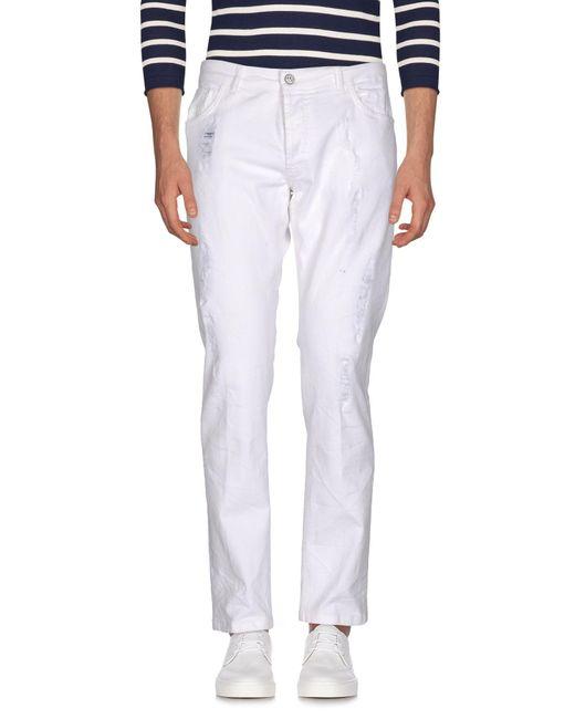 Entre Amis   White Denim Trousers for Men   Lyst