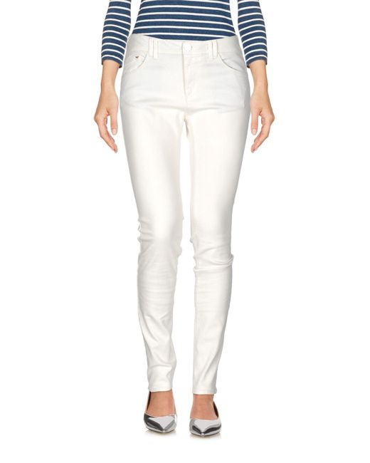 Armani Jeans | White Denim Trousers | Lyst