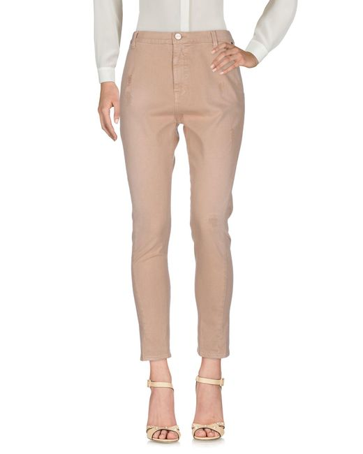Pinko - Natural Casual Pants - Lyst