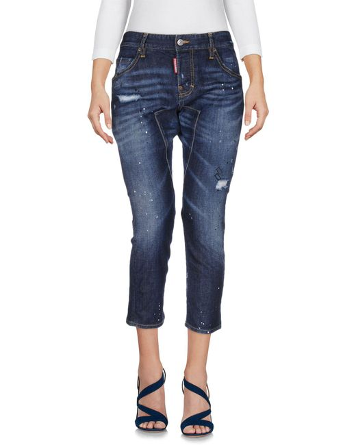 DSquared² - Blue 'cool Girl' Cropped Jeans - Lyst