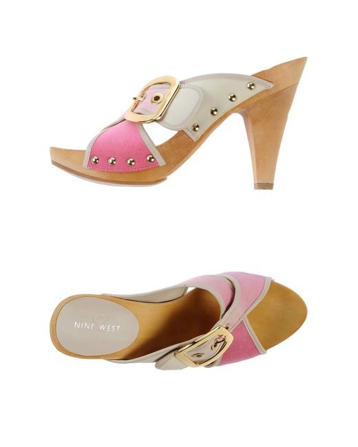 Nine West | Pink Mules | Lyst