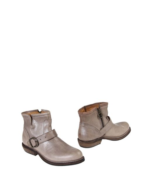Fiorentini + Baker   Gray Ankle Boots   Lyst