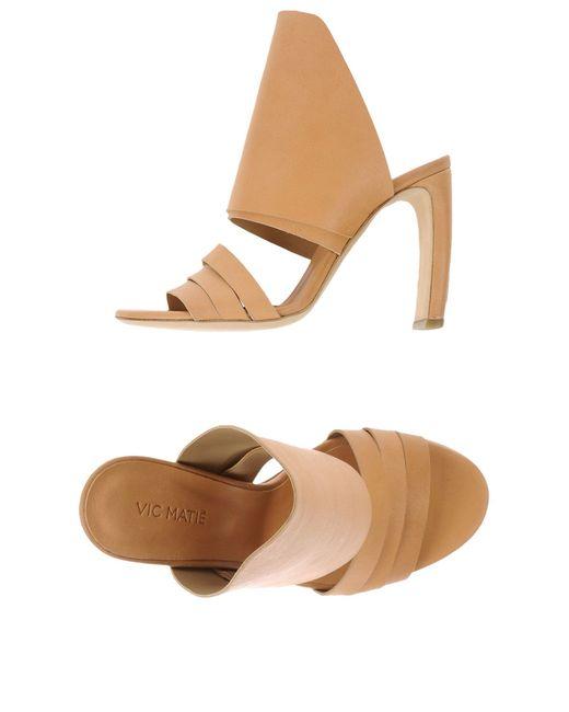 Vic Matié | Natural Sandals | Lyst