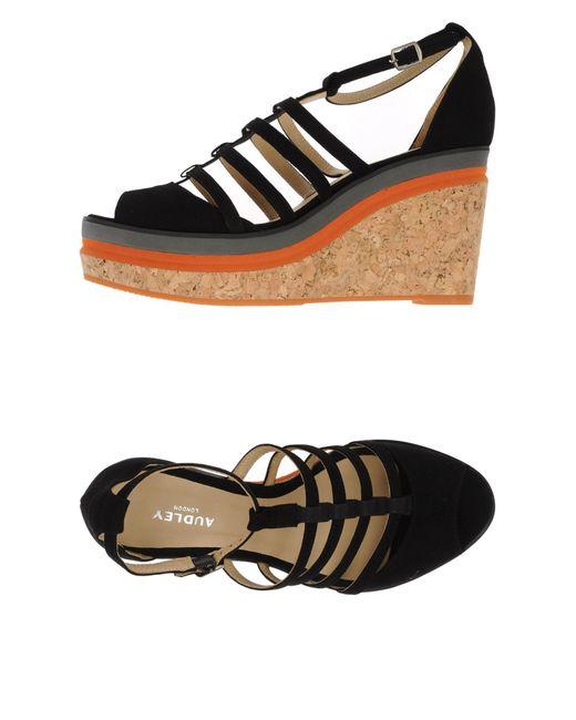 Audley | Black Sandals | Lyst