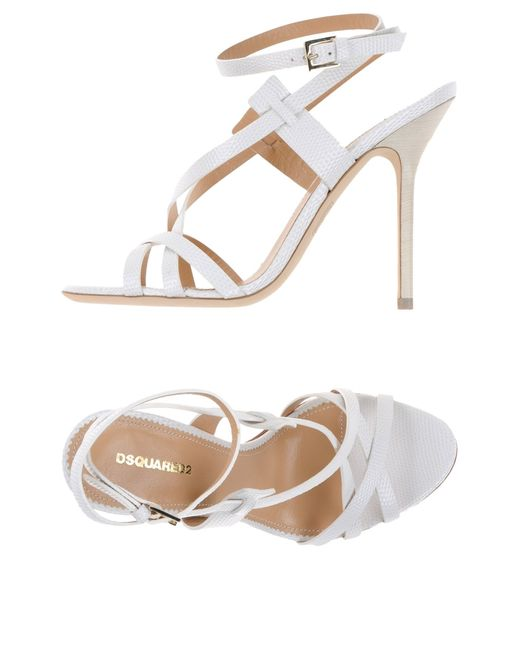 DSquared²   White Sandals   Lyst