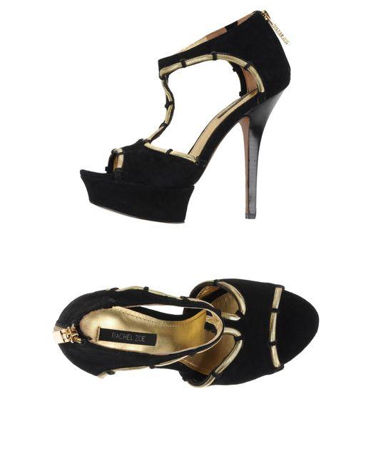 Rachel Zoe | Black Sandals | Lyst