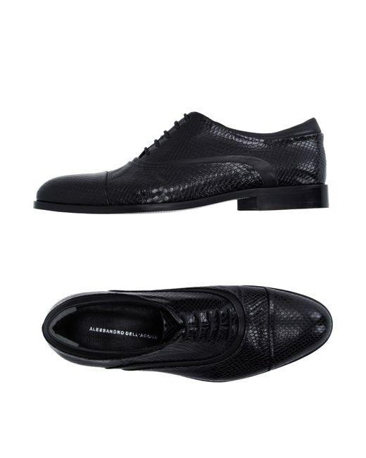 Alessandro Dell'acqua   Black Lace-up Shoe for Men   Lyst
