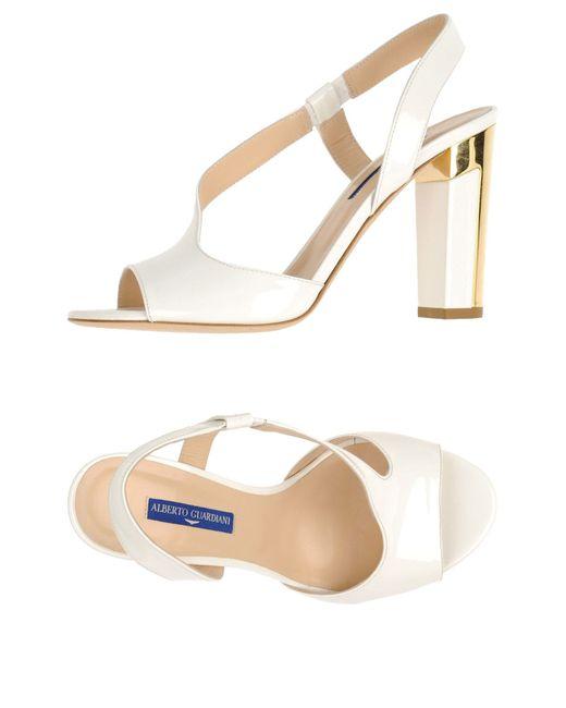 Alberto Guardiani   White Sandals   Lyst