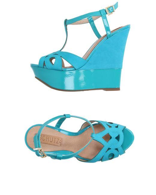 Schutz | Blue Sandals | Lyst