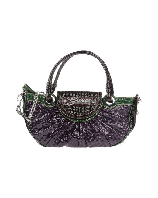 Guess | Purple Jasleen Small Box Satchel | Lyst