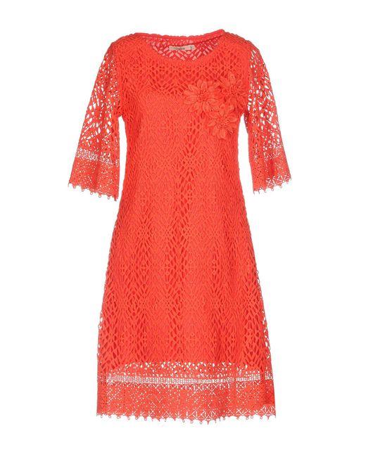 Darling - Red Short Dress - Lyst