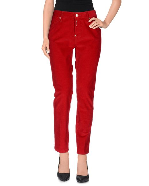 DSquared² - Red Casual Trouser - Lyst