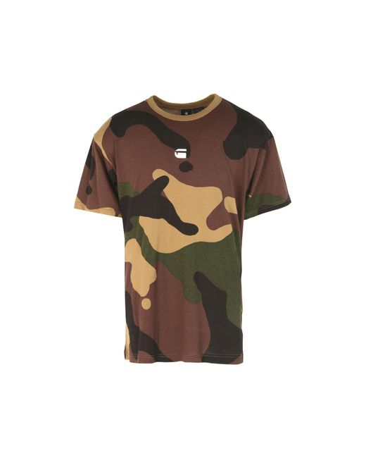 G-Star RAW Brown T-shirt for men