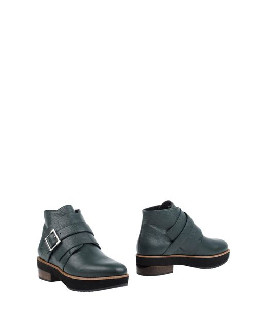 Paloma Barceló | Green Ankle Boots | Lyst