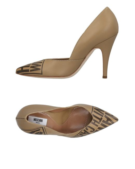 Moschino - Natural Pumps - Lyst