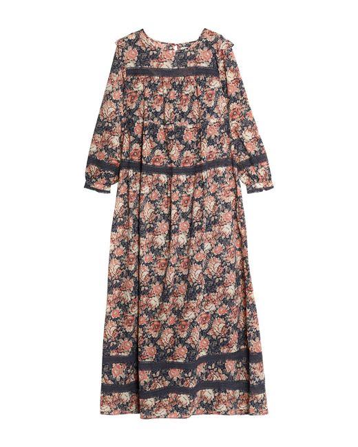 Current/Elliott - Pink Woman Floral-print Cotton-gauze Maxi Dress Antique Rose Size 1 - Lyst