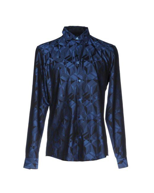 Versace - Blue Shirt for Men - Lyst