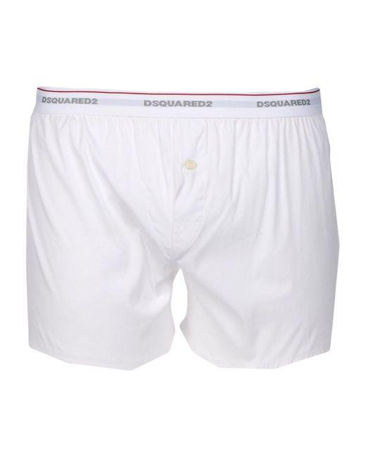 DSquared² | White Boxer for Men | Lyst
