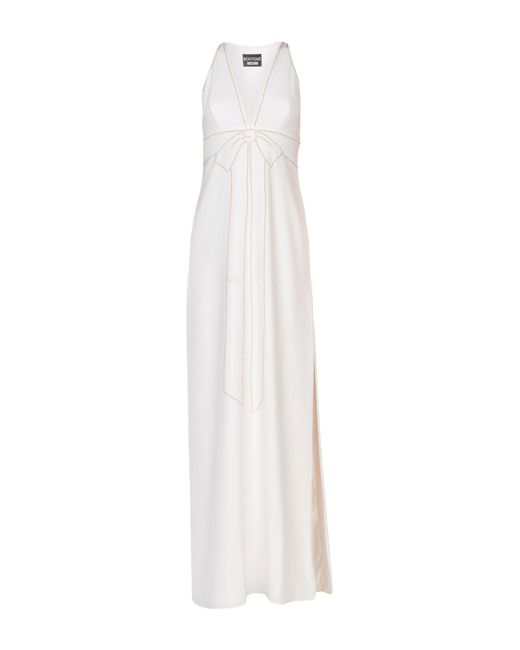 Boutique Moschino - White Long Dress - Lyst