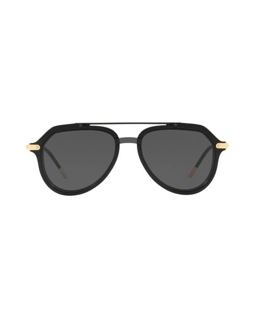 58cac075ae6 ... Dolce   Gabbana - Black Sunglasses for Men - Lyst