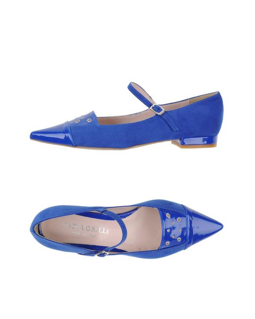 Nadia Grilli - Blue Ballet Flats - Lyst