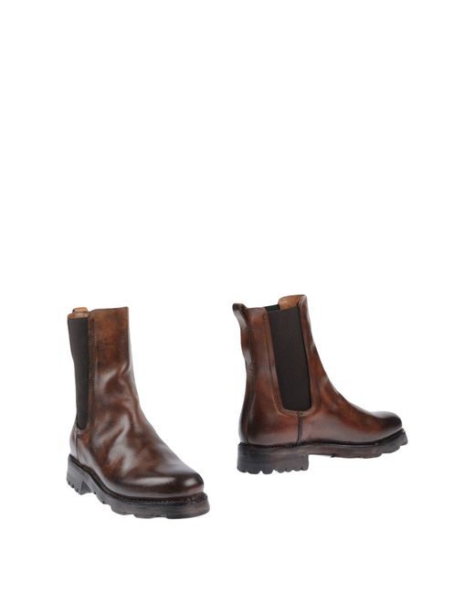 Silvano Sassetti - Brown Ankle Boots - Lyst