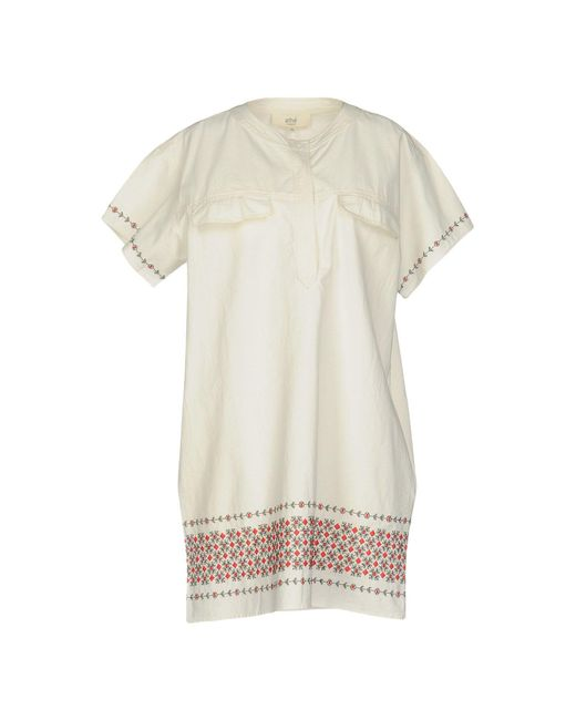 Vanessa Bruno Athé - White Short Dress - Lyst