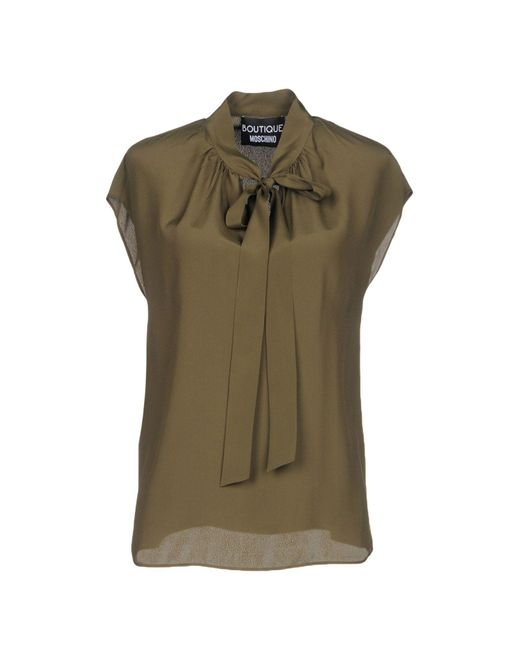 Boutique Moschino - Green Blouse - Lyst