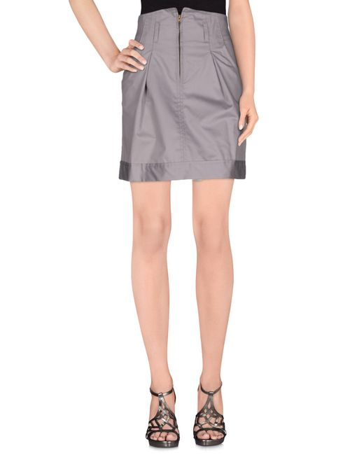 Collection Privée - Gray ? Knee Length Skirt - Lyst