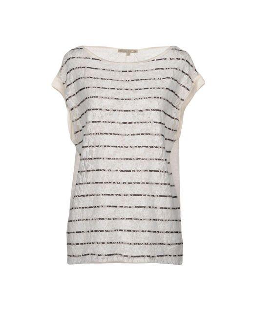Patrizia Pepe - White T-shirt - Lyst