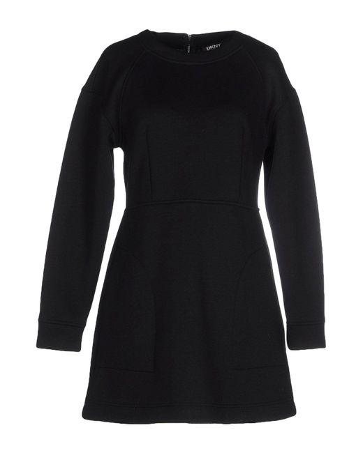 DKNY - Black Short Dress - Lyst