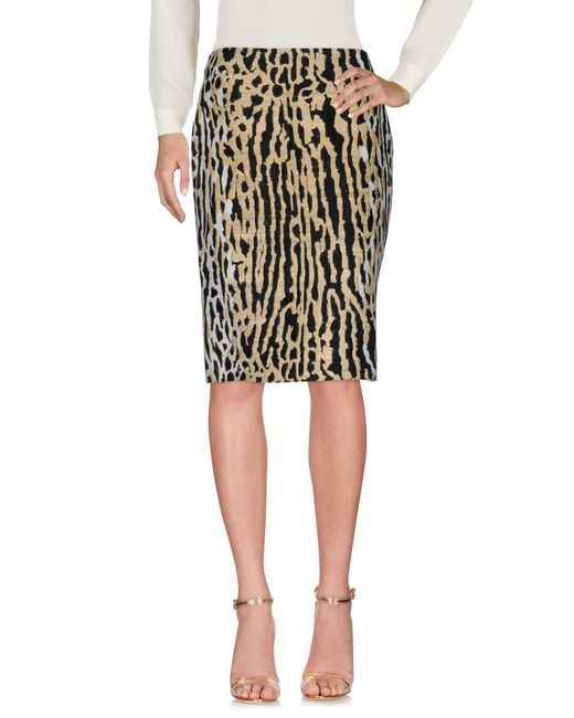 Valentino Natural Knee Length Skirt