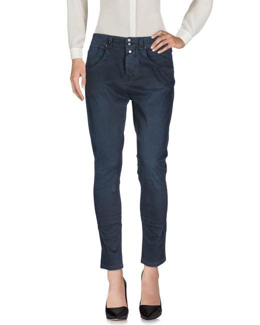 Jfour - Blue Casual Pants - Lyst