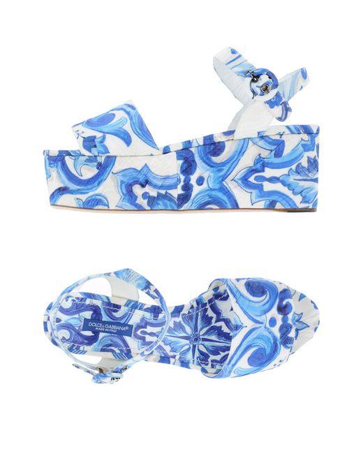 Dolce & Gabbana - Blue Platform Sandal - Lyst