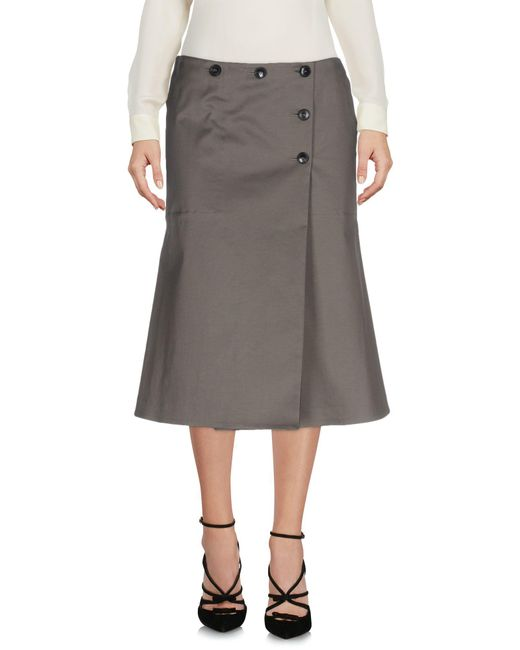 Paul Smith | Gray 3/4 Length Skirt | Lyst