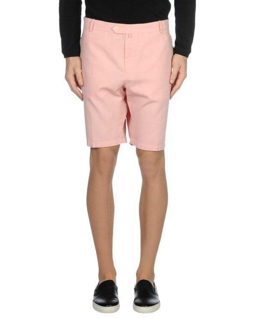 Pedro Del Hierro Madrid - Pink Bermuda for Men - Lyst